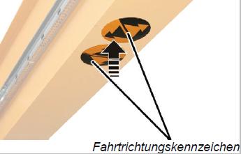 fahrtrichtungskennzeichnung